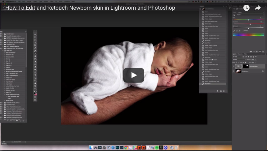 How to edit newborn skin tones