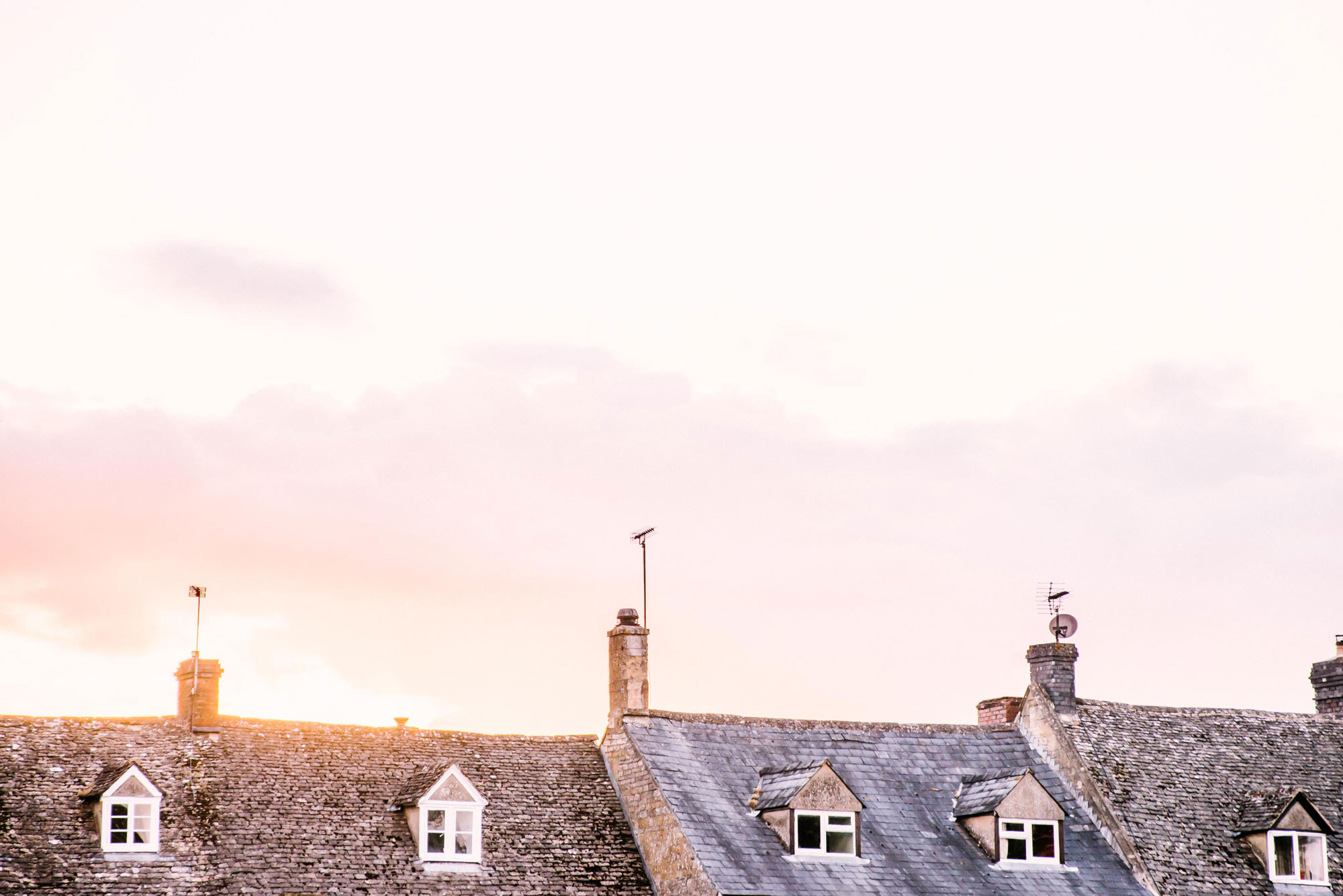 Cotswald, England Rooftops